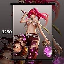 KWELJW Fairy Tail Mirajane Erza Lucy Juvia Anime Manga Wall Poster Scroll B 40x60cm 6250
