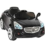 Best Choice Products 12V Kids Ride On Sports Car RC Remote Control Electric Battery Power w/ AUX Input - Black