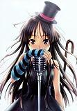 Fototapete Nippon Collection, Sängerin mit Zylinder am Mikrofon, blau schwarze Stulpe am Unterarm, 3 Bahnen hochwertige Vliestapete, 139,5 x 198 cm