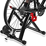 Bike Trainer Stand – DRMOIS Portable Stainless Steel Indoor Exercise Bicycle Trainer Magnetic...