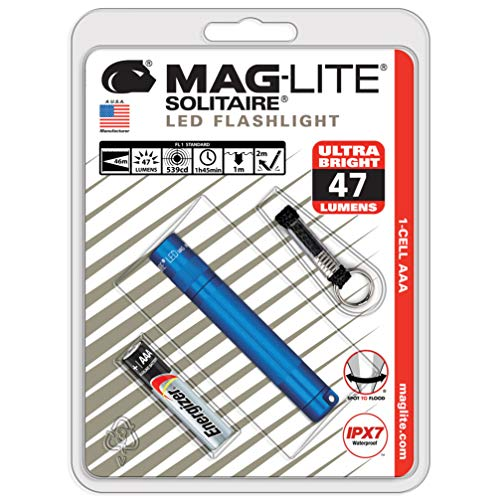 Mag-Lite Solitaire LED Blisterpack - Linterna Llavero, Color Azul, Talla NA