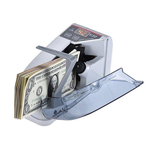 Aibecy Mini Handy Bill Cash Banknote Counter Geld Währung Zählmaschine AC oder Batterie angetrieben (Geldzähler)
