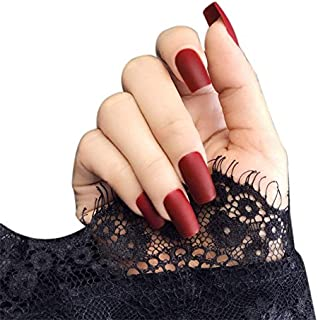 Best long red square acrylic nails Reviews