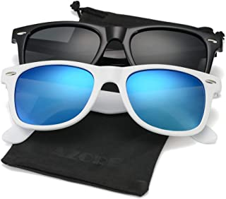 AZORB Classic Polarized Sunglasses Unisex Square Horn Rimmed Design