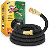 Flexi Hose Lightweight Expandable Garden Hose, No-Kink Flexibility, 3/4 Inch Solid Brass Fittings and Double Latex Core