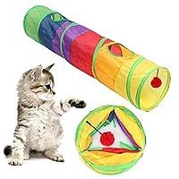 Solome ぬいぐるみボール玩具とペットの猫ポリエステル折り畳み式の多色シングルパストンネル