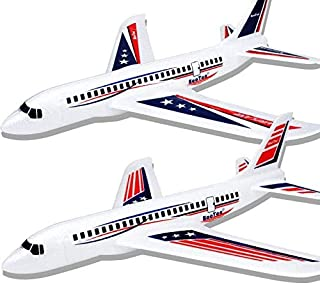 """BooTaa 2 Pack 20"""" Airplane Toys, Outdoor Kids Toys for Backyard, Large Foam Plane Glider, Outside Toys, Gifts/ Toys for 3 ..."""