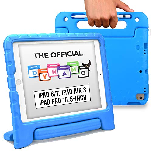 Official Cooper Dynamo [Rugged Kids Case] for 2020/2019 10.2 iPad (8th & 7th Gen), iPad Pro 10.5, iPad Air 3 | Stand, Handle, Pencil Storage Slot (Blue)