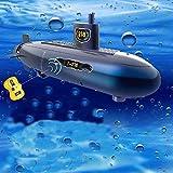 HHtoy 6-Kanäle Mini RC U-Boot Modell DIY Fernbedienung Outdoor-Abenteuer Pigboat Modell U-Boot...