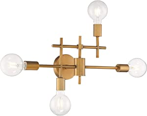 Nuvo Lighting 60/6871 Delphi 4 Light 23 inch Aged Gold Bathroom Vanity Wall Light