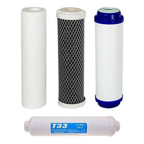 VYAIR AquaFilter Ro-2N Lot de 4 cartouches de filtre à eau de rechange pour système de purification par osmose inverse