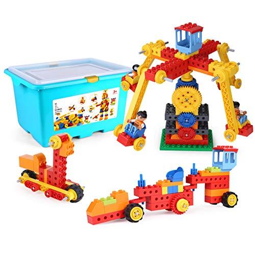 WHAIYAO Bebé Bloques De Construcción Máquinas Construcción Vehículo Kit De Construcción Juguete Educativo, 190pcs (Color : Multi-Colored, Size : 45X34X26CM)