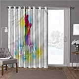 YUAZHOQI cortina aislante térmico para oscurecimiento de habitación, americano, estatua de la libertad foto, 1 panel de separación decorativa de habitación de 52 x 84 pulgadas de ancho (1 panel)