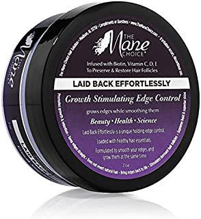 THE MANE CHOICE Laid Back Effortlessly Growth Stimulating Edge Control ( 2 Ounces / 60 Milliliters ) - Keep Hair Edges Straight While Supporting Hair Natural Growth & Retention