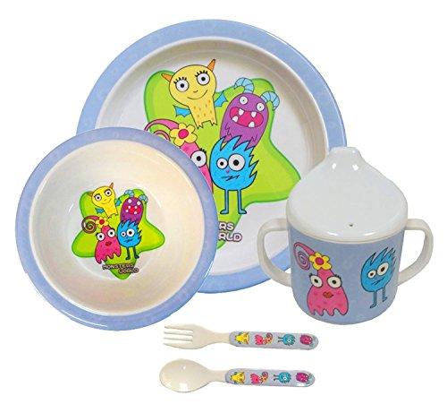 Bieco 04000411 – Vajilla Infantil con Bonitos Motivos y Colores.