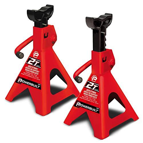Powerbuilt 640399 Wagenheber-Ständer für 2 Tonnen (Rax, rot, 2 Ton