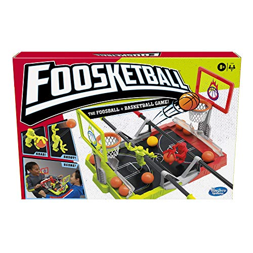 Hasbro Gaming Foosketball Game, The Foosball Plus Basketball Shoot and Score Shoot and Score not searched Tabletop Game for Kids Ages 8 and Up, for 2 Players