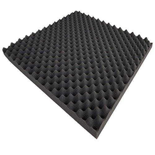 Akoestische platen als geluidsdempende coating - paneel 50 x 100 x 3 cm (antraciet/zwart) gemaakt van hoogwaardige polyurethaan akoestische platen