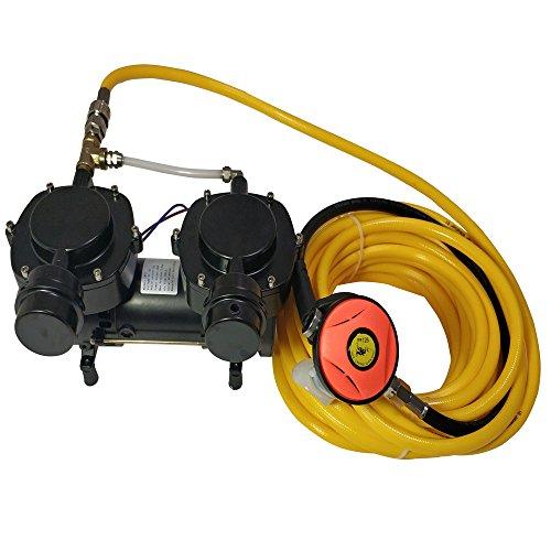 Davv LM70 - Bomba de diafragma sin aceite, 12 V, 160 W, sistema de compresor de buceo Hookah, tercer pulmón