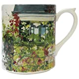 Gien France, De Paris A Giverny (From Paris to Giverny) Coffee Mug, 10 oz, Faience, Made in France by GIEN