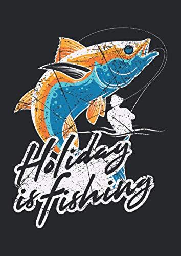 Notizbuch A4 dotted, gepunktet, punktiert mit Softcover Design: Angelurlaub Thunfisch Angeln Angler Meeresangeln Geschenk: 120 dotted (Punktgitter) DIN A4 Seiten