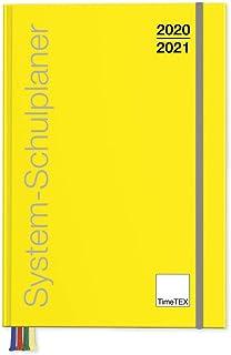 TimeTex System-Schulplaner A4-Plus Gelb – Schuljahr 2020-2021 –..