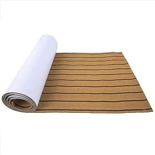 SolUptanisu Boat Decking Sheet,EVA Imitation Teak Decking Sheet Surfboard Boat Yacht Flooring Mat Carpet Pad