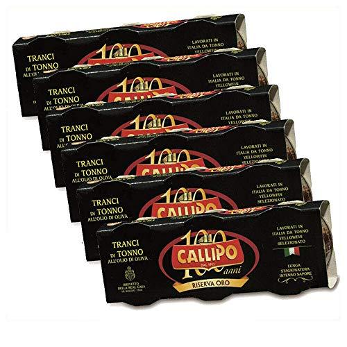 Callipo RISERVA ORO - Thunfisch In Scheiben In Olivenöl 6er Pack