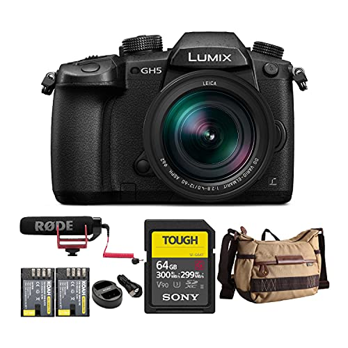 Panasonic LUMIX GH5 4K Mirrorless Camera with...