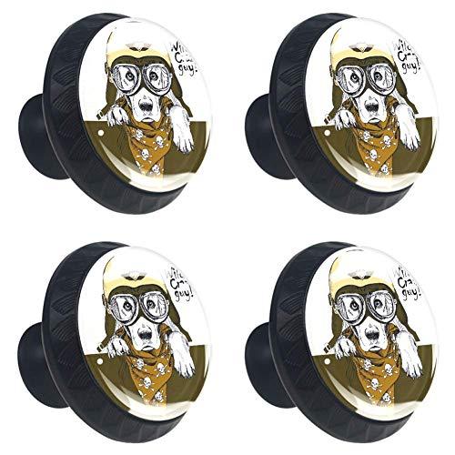Gele Egyptische VrouwenRonde Keukenkast Knoppen, Dressoir Lade Knoppen, Paddestoel Badkamer Kabinet 3.5×2.8CM/1.38×1.10IN Leger Hoed Schedel Sjaal Bulldog