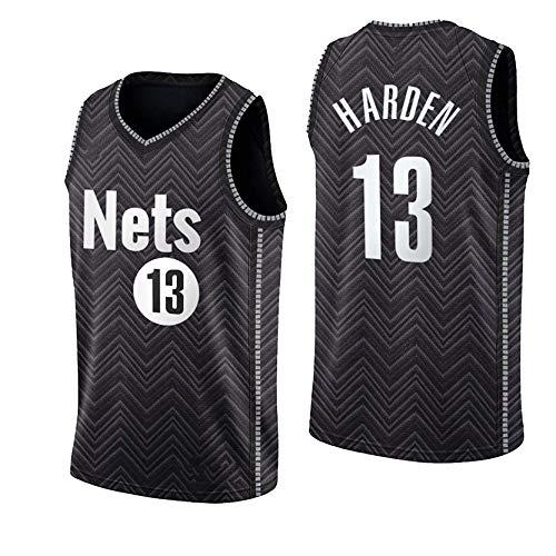 MRYUK Chaleco de Baloncesto para Adultos, Nets de Brooklyn 13# James Harden Baloncesto Swingman Jersey Camiseta, Secado rápido y Uniforme Transpirable M