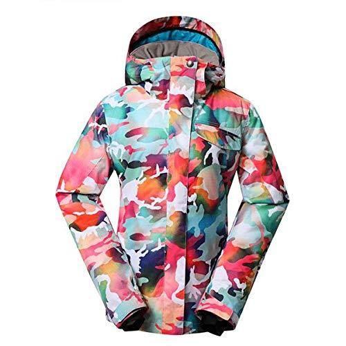 JSGJHXFCAMouflage, sneeuwkleding voor dames, outdoor, sport, kleding, snowboardsets waterdicht, winddicht, kostuum, sneeuwjas en slabbetjes, skibroek