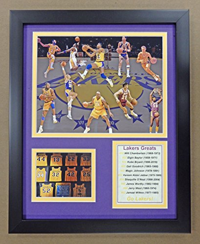 "Legends Never Die NBA Minneapolis/Los Angeles Lakers All-Time Greats Framed Photo Collage, 12"" x 15"" image"