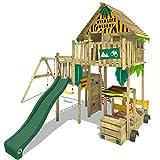 WICKEY Parco giochi in legno Smart Explore Giochi da giardino con altalena...