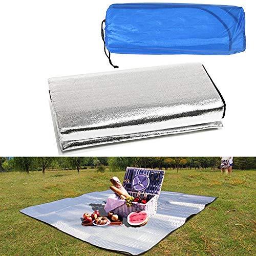 Camping Aluminium Folie Mat Outdoor Opvouwbare Slapen Vochtdicht Matrasdeken Waterdichte Pad Voor Kamp Picknick