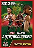 2013 GIANNIS ANTETOKOUNMPO Custom Rookie Card - Limited Edition Basketball Card - Red Border Edition - One of 250 Made!