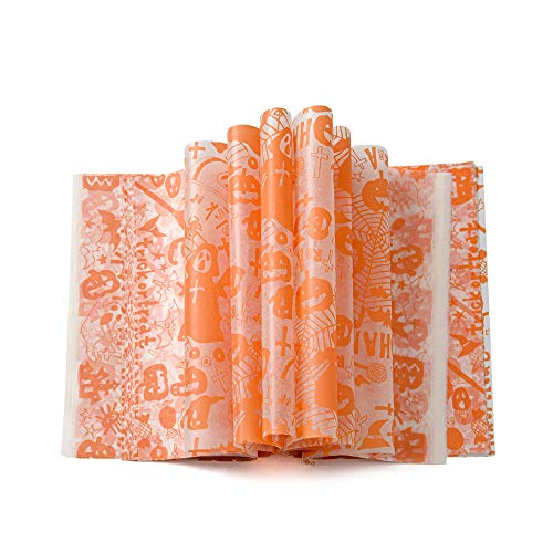 100 pcs Halloween Wax Paper Food Colored Candy Wax Baking Greaseproof Wrapping Paper (100pcs, Brown)