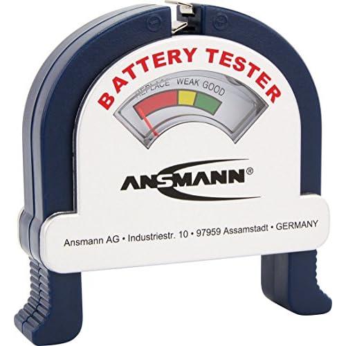 ANSMANN Tester Universale per tutte Le Pile Rotonde E Block 9V - Spia Capacità Residua - Tester