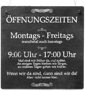 Interluxe XL Shabby Vintage Schild Türschild ÖFFNUNGSZEITE