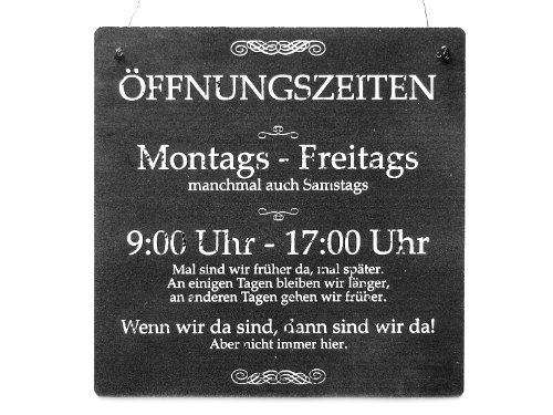 Interluxe XL Shabby Vintage Schild Türschild ÖFFNUNGSZEITEN Laden Firma Salon Geschenk Geschäftseröffnung