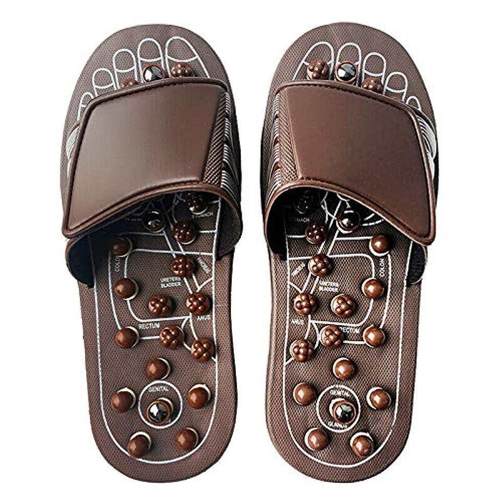 お酒高速道路ベイビーEuphoric Feet 男性と女性のためのマッサージスリッパ足リフレクソロジー指圧サンダルの靴の救済痛み (M)