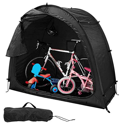 MZBZYU Bike Tent Storage Shed with Waterproof Cover,Durable Weatherproof Bicycle Cover with Window for Garden/Outdoor/Home Shelter,Black