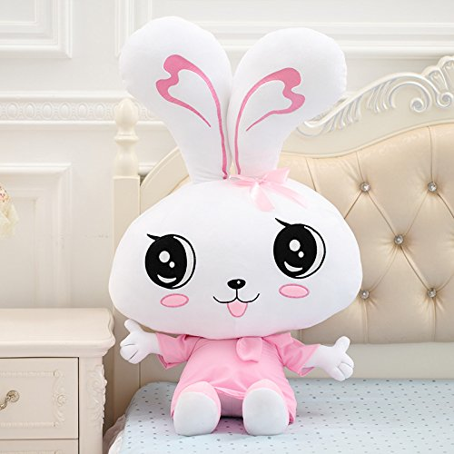 Couple Collar Knot Rabbit Plush Toy Big Small White Rabbit Doll Seven Night to Give Girls 60Cm