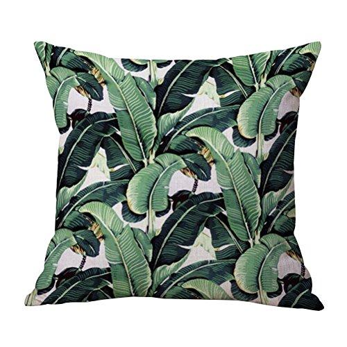 WINOMO Housse De coussin de plantes tropicales Couvre Oreiller pour canapé, chambre, vacances, cadeaux, décor à maison (Aciculiailvae)