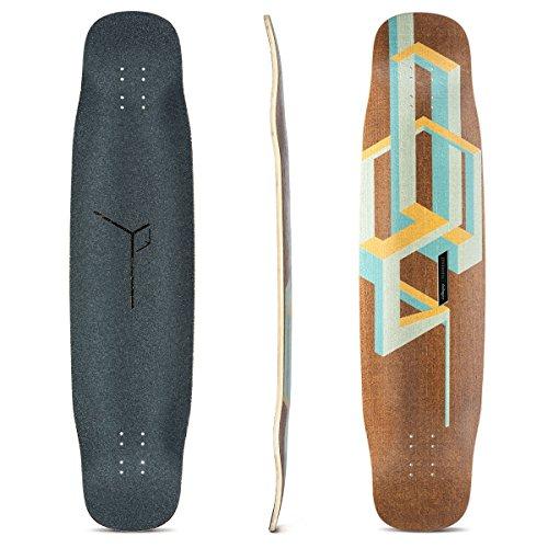Loaded Boards Basalt Tesseract Bamboo Longboard Skateboard Deck (Mango)