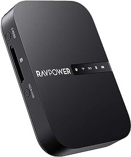 RAVPower Wi-Fi SDカードリーダー 【ワイヤレス共有/高速データ転送/ワンキーバックアップ/有線LANをWiFi化】 ワイヤレス SDカードリーダー ポケットWiFiルーター ⼤型6700mAhバッテリー内蔵 最大4TBまで対応 iOS/Android対応 FileHub RP-WD009