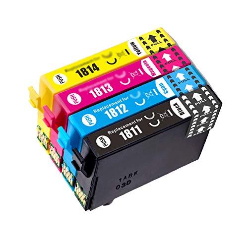 Reemplazo de cartucho de tinta de tinta compatible para EPSON 18XL T1811-4 Uso en XP-30 102 202 205 302 305 402 405, 470 Páginas