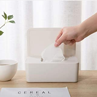 Syfinee Wet Wipes Dispenser Holder Tissue Storage Box Case with Lid Dustproof Wet Tissue Storage Box Plastic Case Home Car Office Wipes Holder with Buckle Lid for Home Office