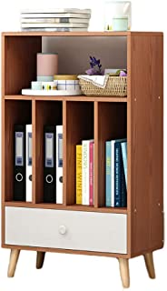 Strong Sturdy Oak Open shelf Bookshelf,Simple Floor-standing Multifunctional Furniture Storage cabinet Ample Space for sto...