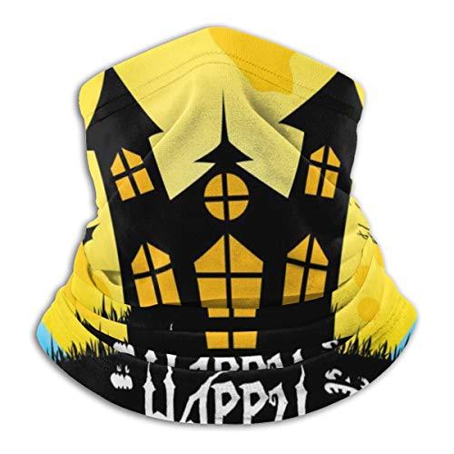 Bag hat Bunte Happy Halloween Postkarte Unisex Winter Fleece Nackenwärmer Gamaschen Haarband kaltem Wetter Tube Face Mask Thermal Halstuch 9,8x11,8 Zoll